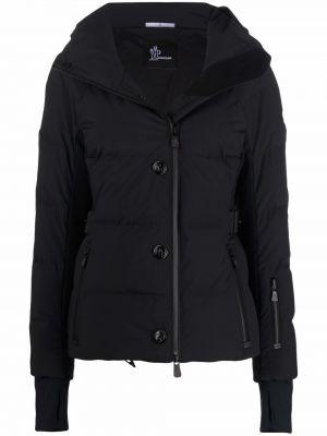 Czarna kurtka puchowa z kapturem Moncler Grenoble