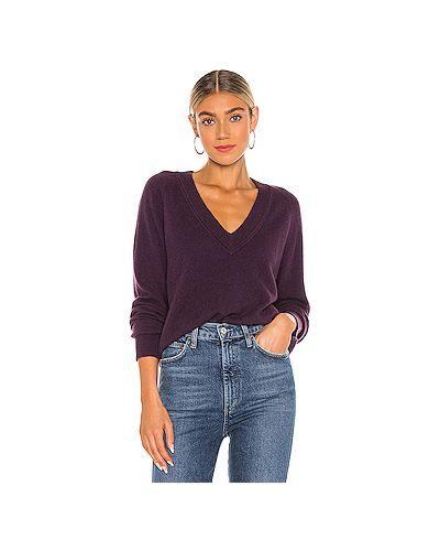 Кашемировый фиолетовый свитер Equipment