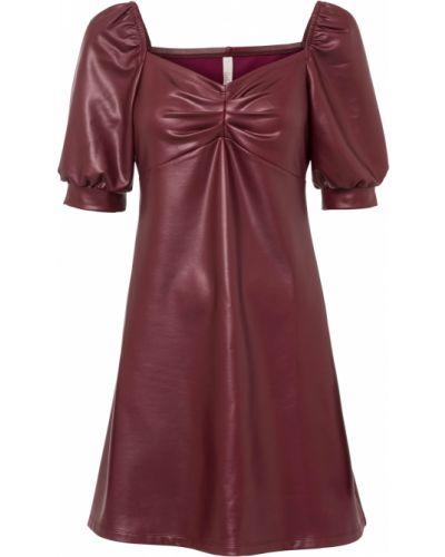 Кожаное платье - красное Bonprix