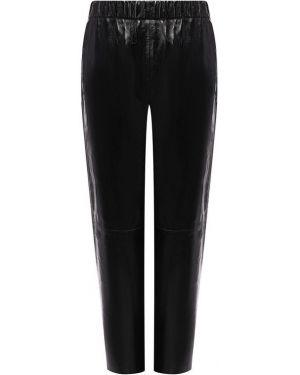 Укороченные классические брюки - черные Mm6