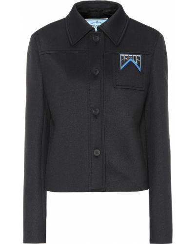 Куртка из неопрена - черная Prada
