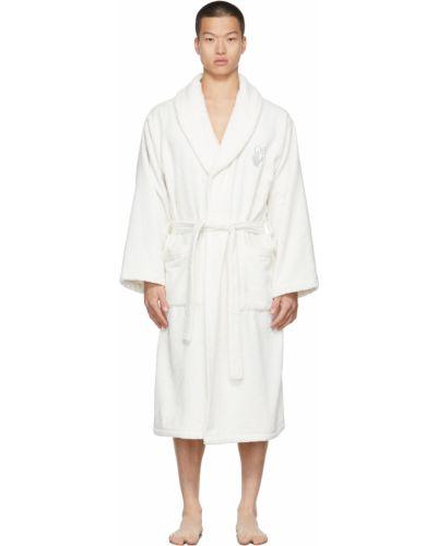 Długi szlafrok bawełniany - biały Off-white