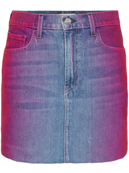 Klasyczna niebieska spódnica mini z paskiem Jordache