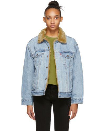 Синяя джинсовая куртка двусторонняя с манжетами Levi's®