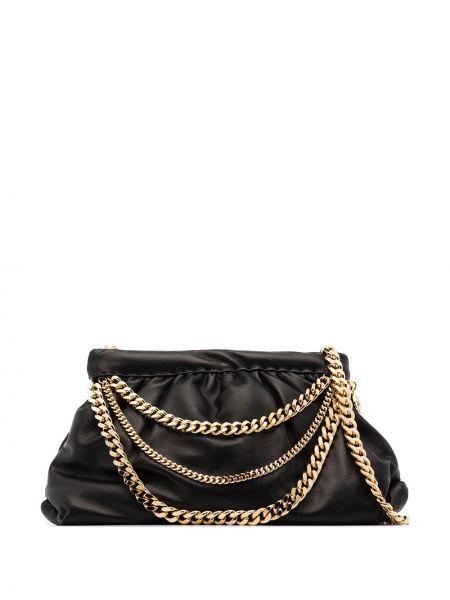 Czarna złota torebka na łańcuszku Rosantica