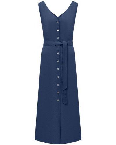 Льняное платье - синее 120% Lino