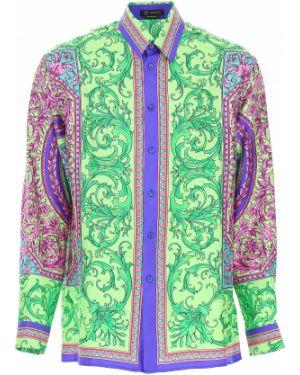Koszula z długim rękawem lato jedwab Versace