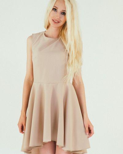 Повседневное платье весеннее бежевое Подіум