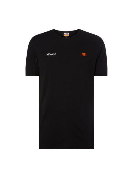 Czarny t-shirt bawełniany Ellesse
