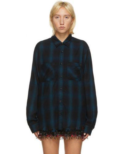 Фланелевая черная рубашка с длинными рукавами Amiri
