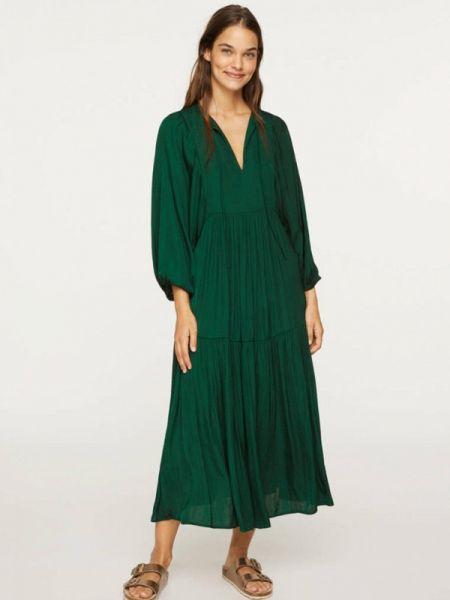 Зеленое платье Oysho