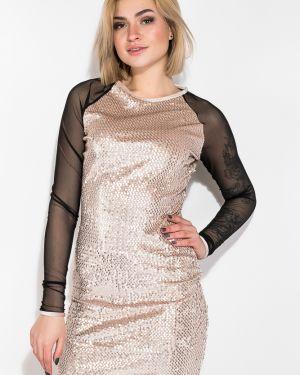 Приталенное вечернее платье с пайетками Time Of Style