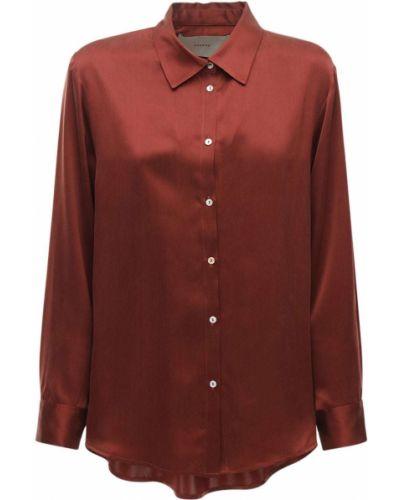 Пижамный шелковый красный топ Asceno