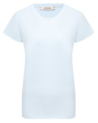 Хлопковая футболка - синяя Dorothee Schumacher