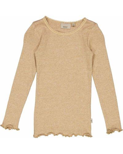 Beżowa koszulka koronkowa Wheat