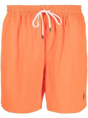 Оранжевые пляжные плавки-боксеры с карманами Polo Ralph Lauren