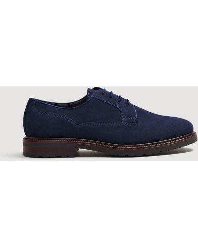 Кожаные туфли на шнуровке замшевые Mango Man