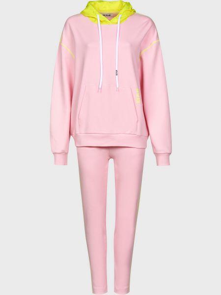 Костюмный хлопковый розовый спортивный костюм Ice Play