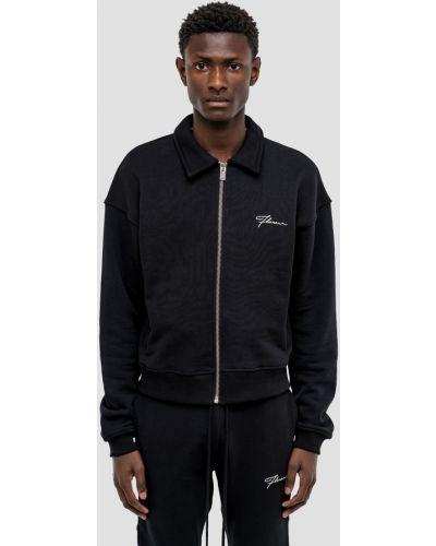 Czarna bluza dresowa bawełniana Flaneur Homme
