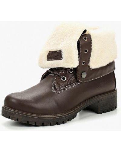 Ботинки на каблуке кожаные Shoiberg