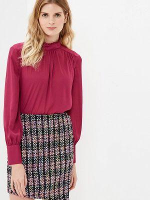 Блузка с длинным рукавом бордовый красная Villagi