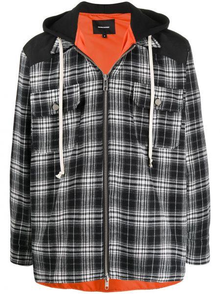 Czarna kurtka z kapturem bawełniana Daniel Patrick