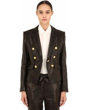 Пиджак двубортный кожаный Veronica Beard
