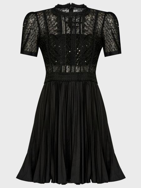 Черное платье на молнии Self-portrait