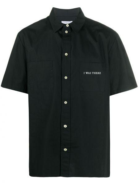 Czarna koszula bawełniana z printem Ih Nom Uh Nit