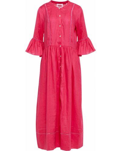 Платье миди в полоску - розовое Solid & Striped