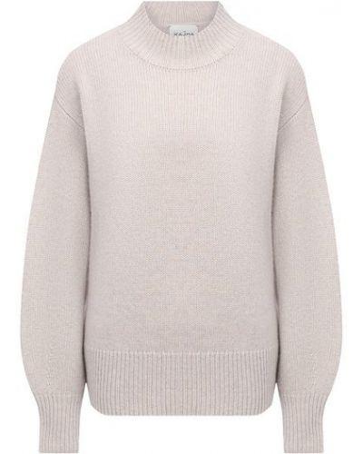 Бежевый кашемировый свитер Le Kasha