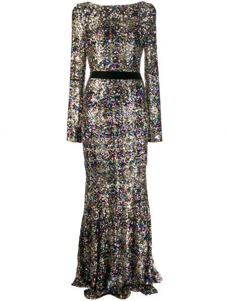 Вечернее платье с вышивкой на молнии Talbot Runhof