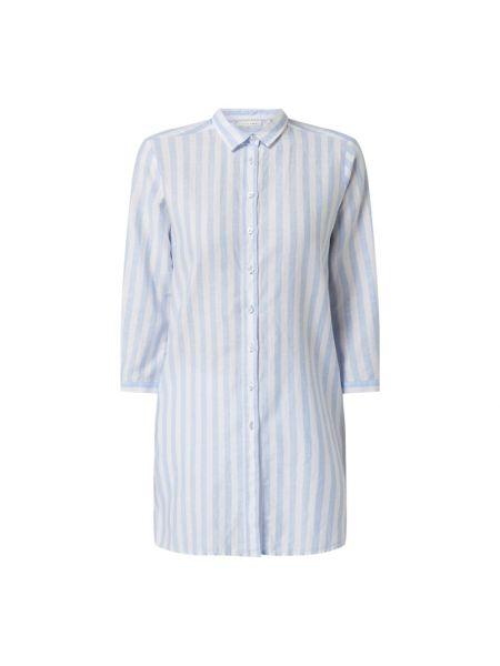 Niebieska bluzka w paski bawełniana Eterna