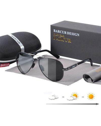 Серые солнцезащитные очки прозрачные Barcur
