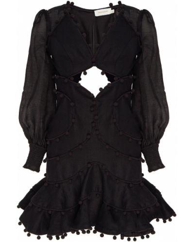 Платье мини с декольте коктейльное Zimmermann