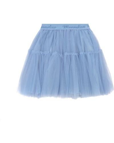 Синяя юбка из фатина Monnalisa