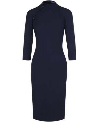 Платье приталенное с воротником-стойкой Ralph Lauren