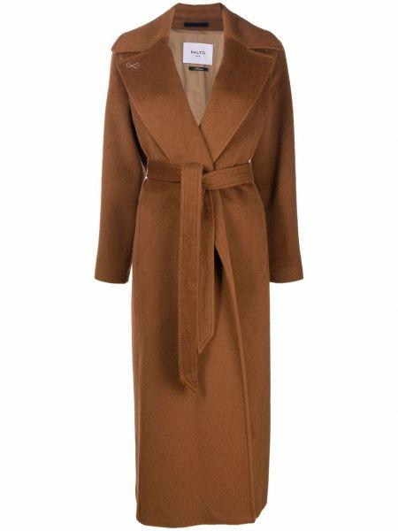 Brązowy płaszcz wełniany Palto