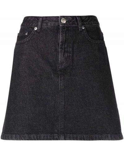 Джинсовая юбка мини - черная A.p.c.