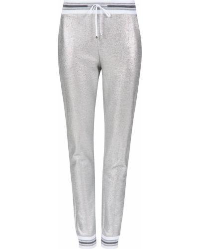 Спортивные брюки из вискозы серебряный D.exterior