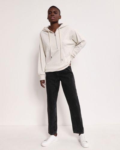 Серые свободные джинсы с высокой посадкой с карманами на пуговицах 12storeez