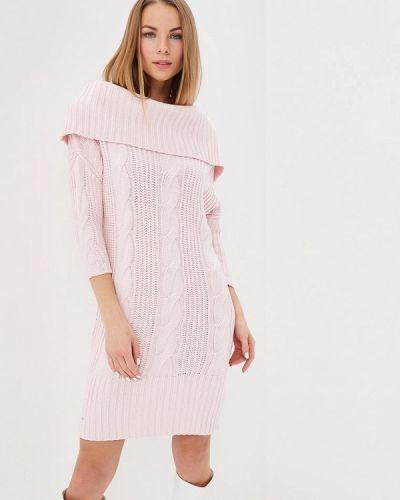 Вязаное платье трикотажное розовый Love Republic