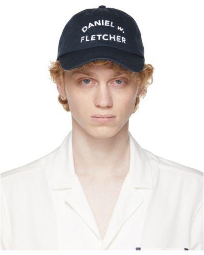 Biała czapka z haftem bawełniana Daniel W. Fletcher