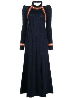 Шерстяное платье миди - синее Rosie Assoulin