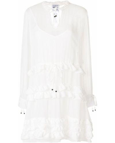 Вязаное платье рубашка с длинными рукавами с оборками Twin-set
