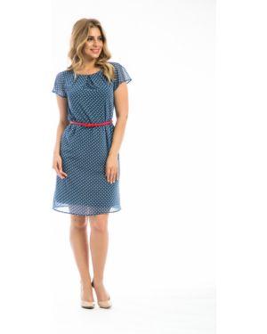Летнее платье мини в горошек Modellos