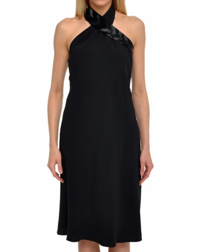 Шелковое платье - черное Ralph Lauren