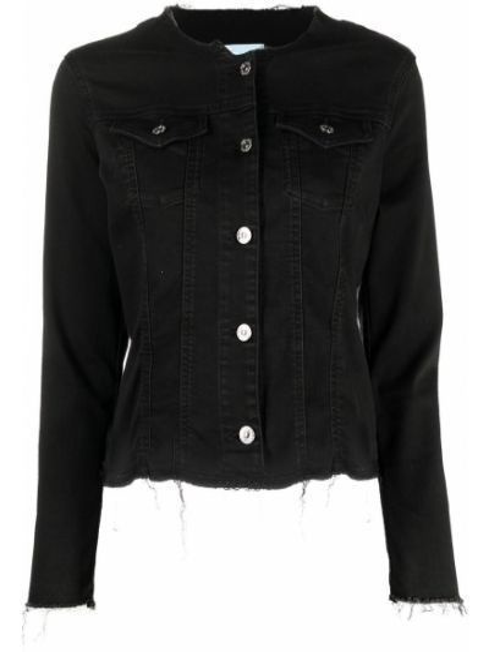 Хлопковая черная куртка с бахромой 7 For All Mankind