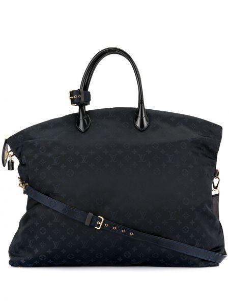 Skórzana torebka pikowana z łatami Louis Vuitton Pre-owned