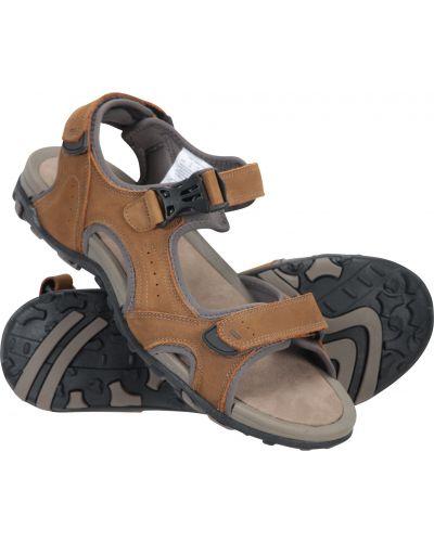 Sandały zamszowe - brązowe Mountain Warehouse